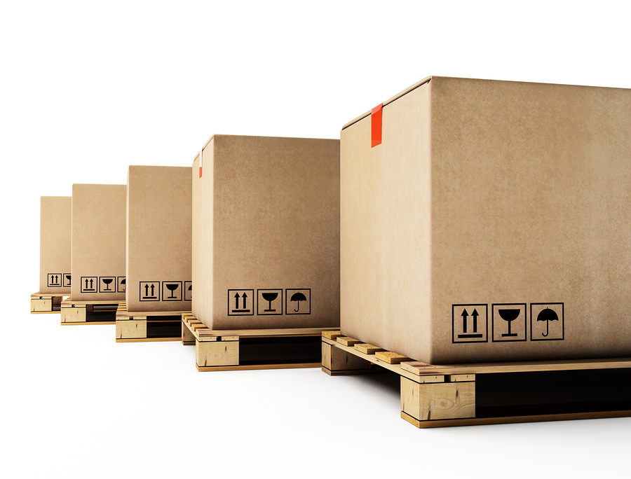 moving boxes lined up