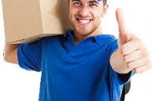 professional mover giving thumbs up